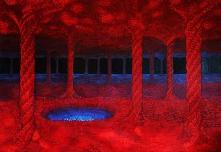Jose Eliezer Mikosz: 'The Cave II', 2016 Mixed Media, Psychedelic. Artist Description:  Caves in the non- ordinary states of consciousness ...
