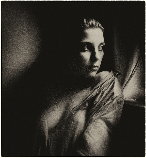 Milan Hristev  'Portret', created in 1987, Original Photography Silver Gelatin.