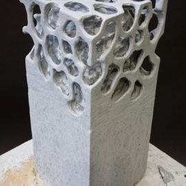 Miles Lightning: 'Cuboid', 2009 Stone Sculpture, Geometric. Artist Description:  Italian Bardiglio Marble. ...