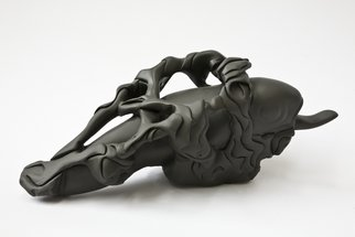 Miles Lightning: 'The Fish', 2009 Stone Sculpture, Abstract Figurative. Artist Description:  Colored Soapstone ...