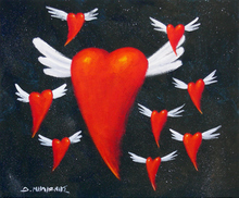 - artwork Flying_Red_Hearts-1177483995.jpg - 2006, Painting Acrylic, Love