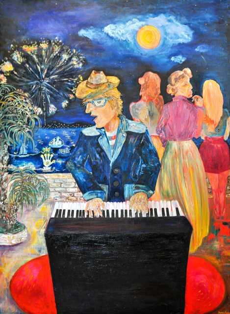 Milica Markovic Rajcevic  'Sotto La Voce', created in 2014, Original Painting Tempera.