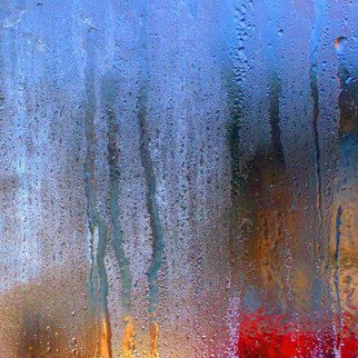 Anna Miller: 'Rain 1', 2010 Color Photograph, Abstract Landscape.  rain, drops, abstract, impression ...
