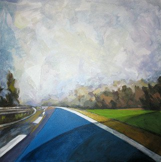 Landscape Acrylic Painting by Mima Stajkovic Title: Just That, created in 2008