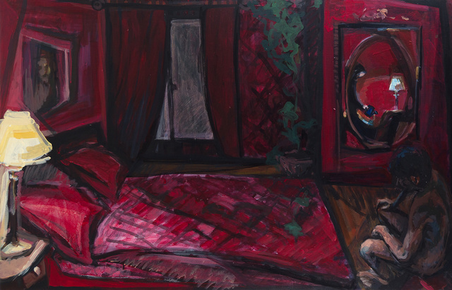 Mima Stajkovic  'Red Time', created in 2011, Original Painting Acrylic.