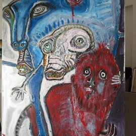 Amimra Mimura Artwork artist riding death, 2014 Other Painting, Death