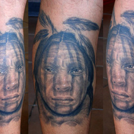 Indian portrait tattoo By Minh Hang
