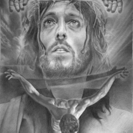 Minh Hang Artwork only God can judge, 2009 Pencil Drawing, Religious
