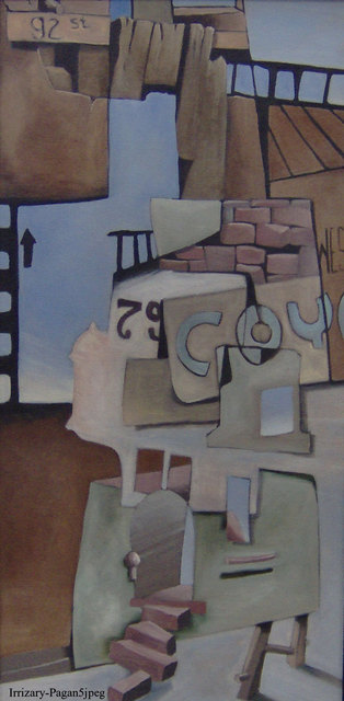 Michael Irrizarypagan  '79 West 92nd Street', created in 2010, Original Painting Tempera.