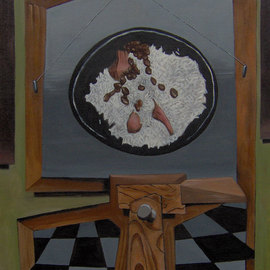 Michael Irrizarypagan Artwork Rice and Beans, 2011 Oil Painting, Surrealism