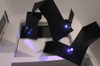 Miri Chais: 'meeting point', 2011 Mixed Media, Technology. Artist Description:      the works consiste of plexiglass and LED     ...