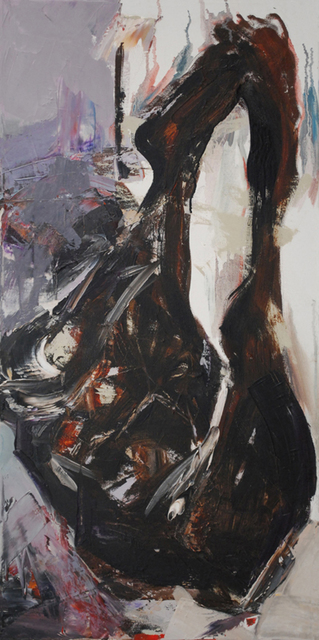 Mirjana Lucic  'Cayendo III', created in 2009, Original Painting Oil.