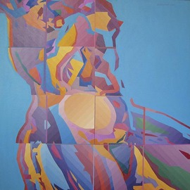 Miodrag Misko Petrovic: 'Aphrodite 2', 2005 Oil Painting, Nudes. Artist Description:  No description ...