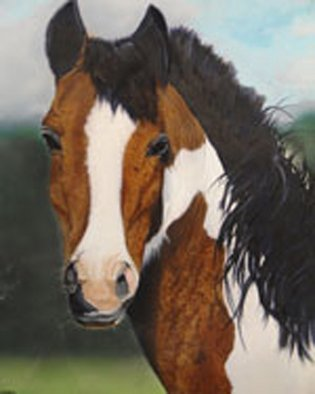 Artist: Gary Mishko - Title: Portrait of a Horse - Medium: Acrylic Painting - Year: 2010
