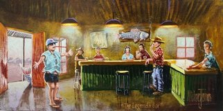 Michael Jones: 'The Legends Bar', 2014 Acrylic Painting, Holidays. Artist Description:   fishing holidays         ...