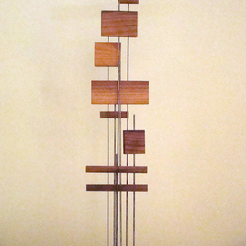Mrs. Mathew Sumich Artwork Family 7, 1960 Wood Sculpture, Minimalism