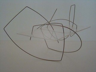 Mrs. Mathew Sumich: 'Untitled', 1980 Mixed Media Sculpture, Minimalism. Artist Description:  Clear acrylic 'threaded' with wire  lightweight suitable for table display ...