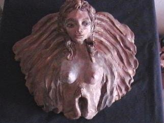 Maryjean Galivan: 'angel of light', 2005 Ceramic Sculpture, Inspirational. Artist Description: This ceramic angel is finished with a metalic finish giving it the look of bronze....