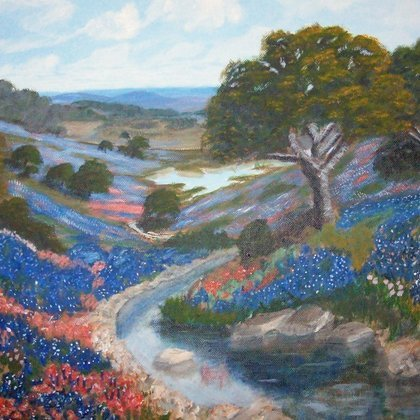 , Valley So Blue, Landscape, $630
