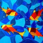 Joy Fish Abstract By Manjiri Kanvinde