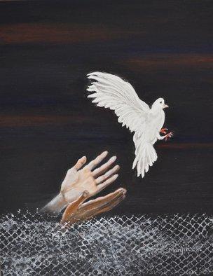 Artist: Manjiri Kanvinde - Title: Setting FreeInspirational painting on yupo  - Medium: Acrylic Painting - Year: 2014