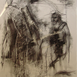 Kaiser Kamal Artwork rajkumari101, 2008 Charcoal Drawing, Conceptual