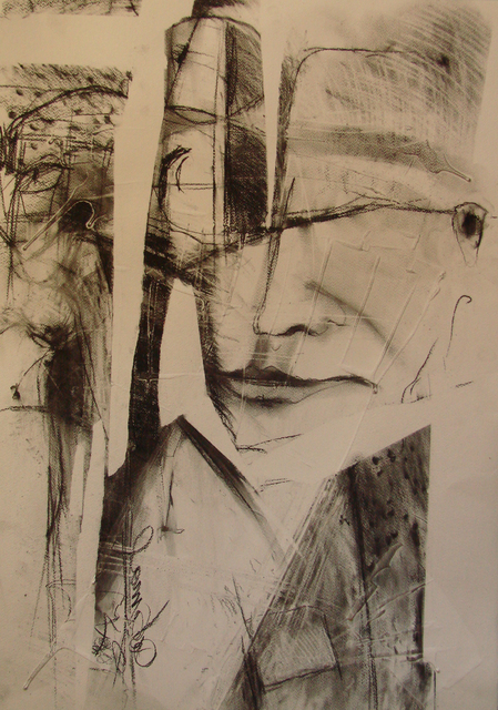 Kaiser Kamal  'Rajkumari104', created in 2008, Original Drawing Charcoal.