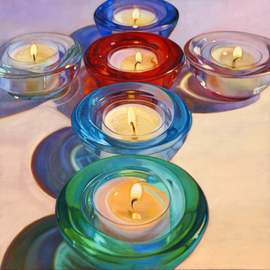 Michael Todd Longhofer: 'Crossing Candles', 2010 Oil Painting, Still Life. Artist Description:  Still Life of candle series