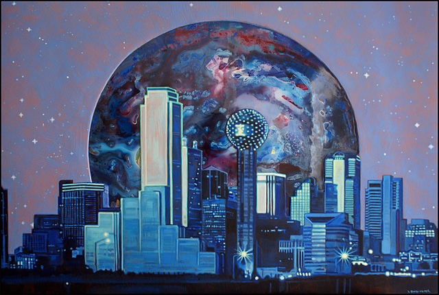 Michael Todd Longhofer  'Midnight Metro', created in 2011, Original Painting Acrylic.