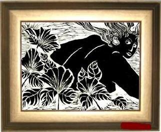 Maria Lucia Pacheco Artwork Primavera, 2005 Linoleum Cut, Figurative