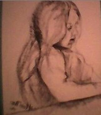 Portrait Charcoal Drawing by M. Lori Paro Title: Innocent, created in 2001