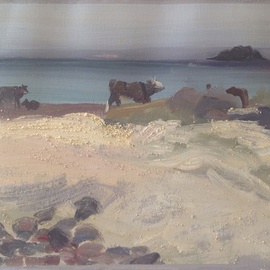Cows Grazing on Seaweed By Michelle Mendez