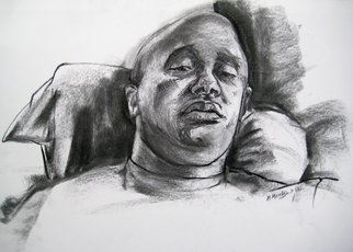 Portrait Charcoal Drawing by Michelle Mendez Title: Habib, created in 2011