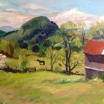 Peachham Farm with Horse By Michelle Mendez