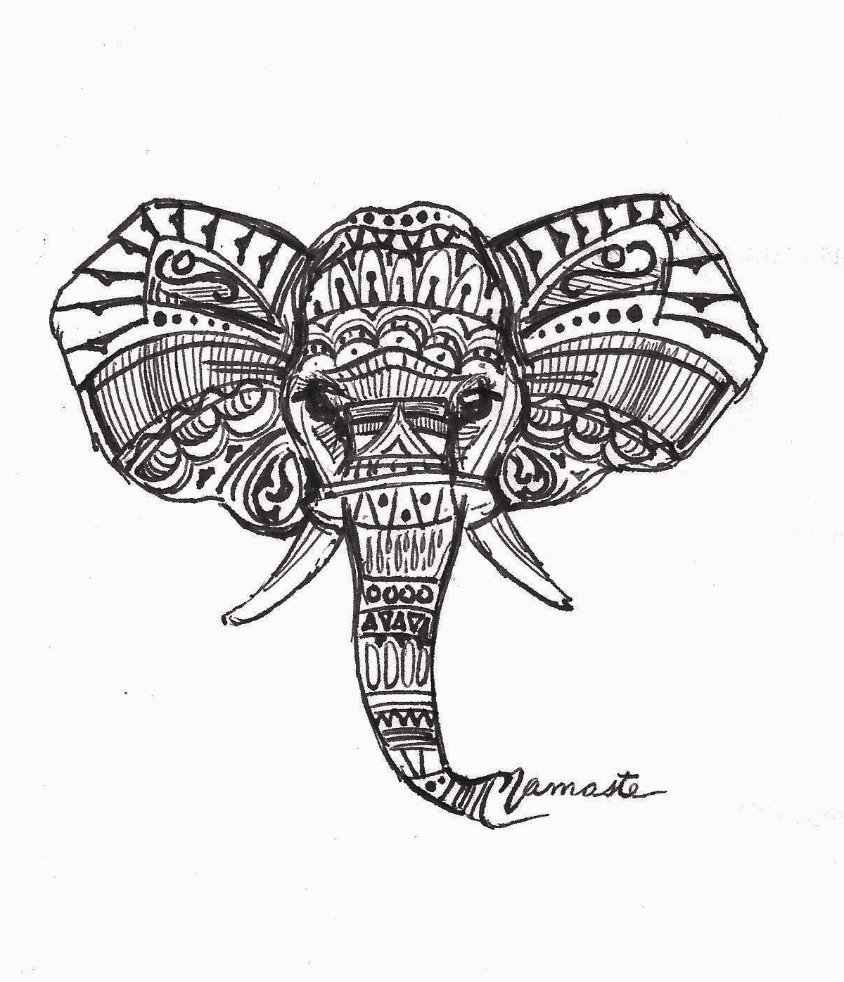 Indian Elephant Drawings Tumblr Face Drawing