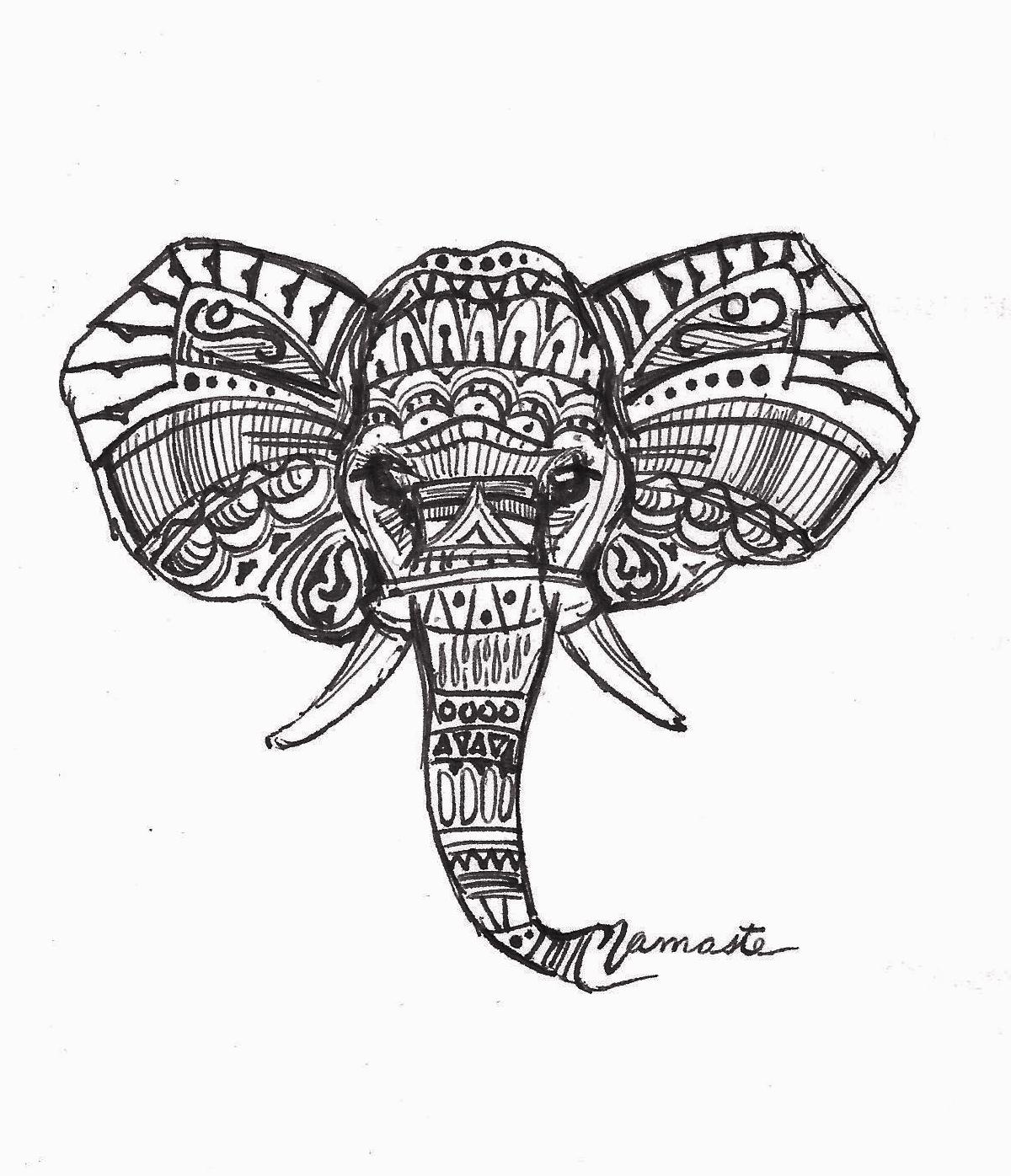 Maria Changalidi Artwork: Namaste Elephant | Original