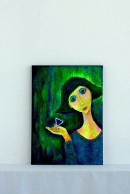 Dmytro Salidzhanov: 'value your time', 2017 Acrylic Painting, Figurative. Artist Description:   VALUE YOUR TIME   ORIGINAL, CANVAS, ACRYLIC, OIL. HERE IS A GIRL HOLDING AN HOUR GLASS. SHE IS LOOKING AT YOU FROM THE OTHER SIDE OF ETERNITY. SHE IS TELLING YOU aEUR