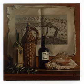 Constantine Mogilevskiy: 'The Vitos Vine', 2003 Oil Painting, Still Life. Artist Description:         The original oil on canvas painting, still- life by Mogilevskiy Constantine        ...