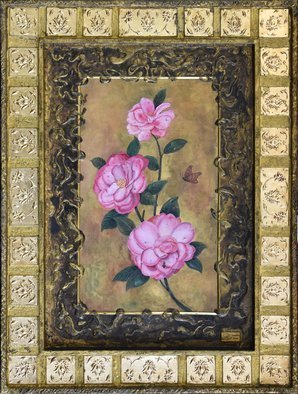 Mohammad Khazaei: 'camellia', 2016 Other Painting, Floral. Artist Description: My new style...