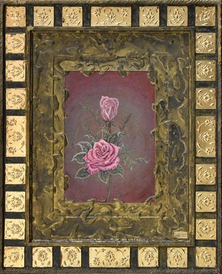 Mohammad Khazaei: 'rose', 2016 Other Painting, Floral. Artist Description: My new style...