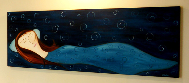 Mohammad Rokhsefat  'Sleep', created in 2011, Original Painting Oil.