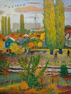 Moesey Li Artwork Autumn time, 1985 Oil Painting, Seasons