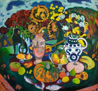 Moesey Li Artwork Fantasy still life, 2014 Oil Painting, Still Life
