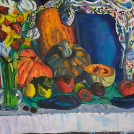 Moesey Li Artwork Fruits and vegetables, 2014 Oil Painting, Floral