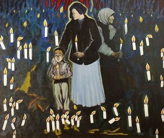 Moesey Li Artwork In memory of the victims, 1999 Oil Painting, Spiritual