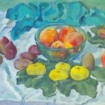 Peaches with figs By Moesey Li