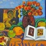 Still life with an icon  By Moesey Li