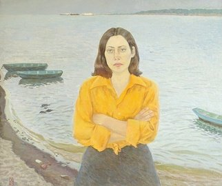Moesey Li Artwork Volzhanka, 1979 Oil Painting, Portrait