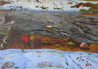 Moesey Li Artwork Winter river, 1996 Oil Painting, Nature