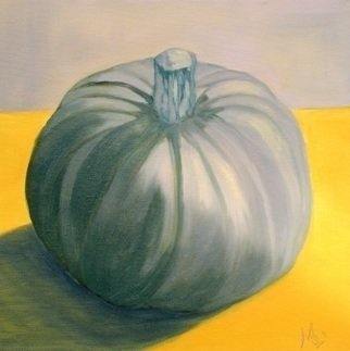 Marilia Lutz  'Blue Squash', created in 2011, Original Painting Oil.